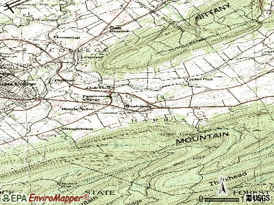 Boalsburg topographic map