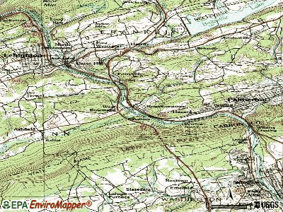 Bowmanstown topographic map