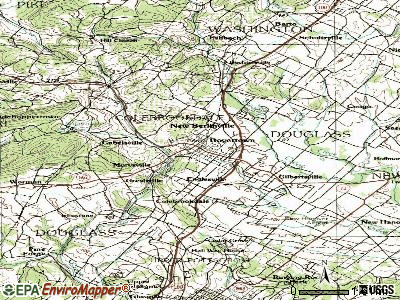 Boyertown topographic map