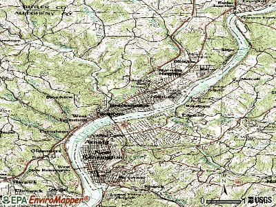 Brackenridge topographic map