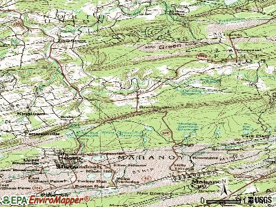 Brandonville topographic map