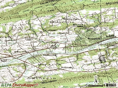 Briar Creek topographic map