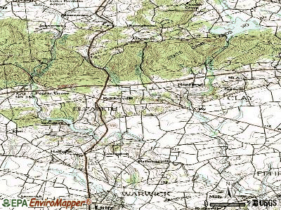 Brickerville topographic map