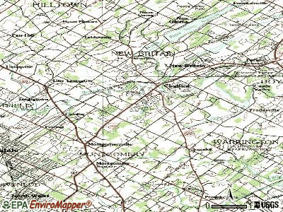 Brittany Farms-Highlands topographic map
