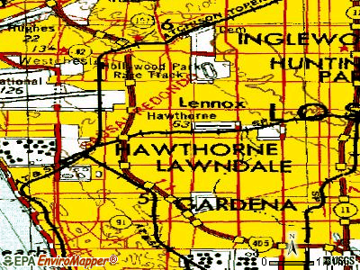 Hawthorne topographic map