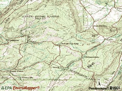 Broad Top City topographic map
