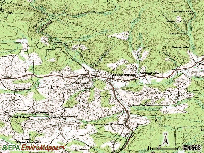 Brockway topographic map