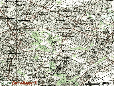 Bryn Athyn topographic map