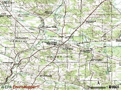 Cambridge Springs topographic map