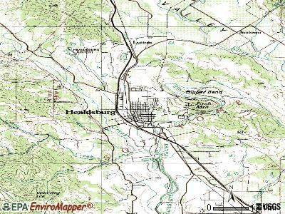 Healdsburg topographic map