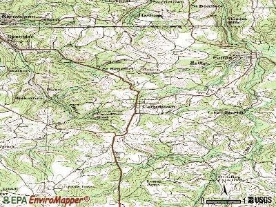 Carrolltown topographic map