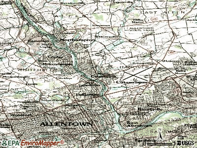 Catasauqua topographic map