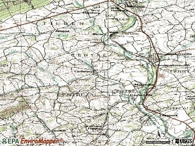 Centerport topographic map