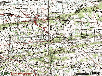 Christiana topographic map