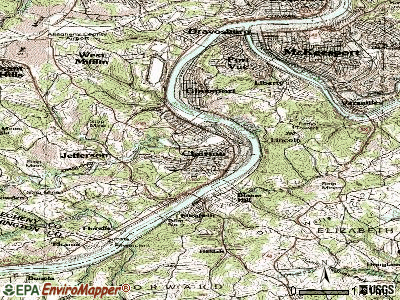 Clairton topographic map