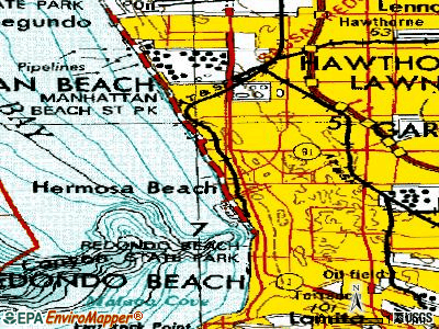 Hermosa Beach topographic map