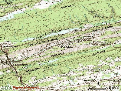 Coaldale topographic map