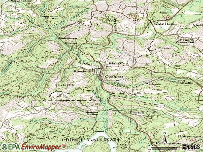 Coalport topographic map