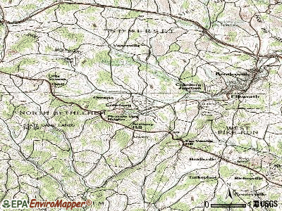 Collegeville topographic map