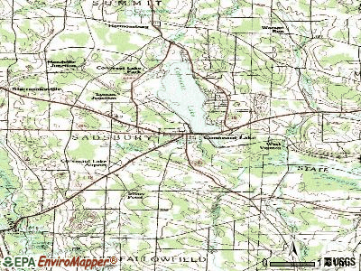 Conneaut Lake topographic map