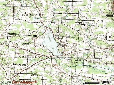 Conneaut Lakeshore topographic map