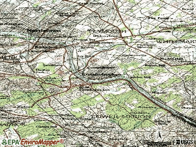 Conshohocken topographic map