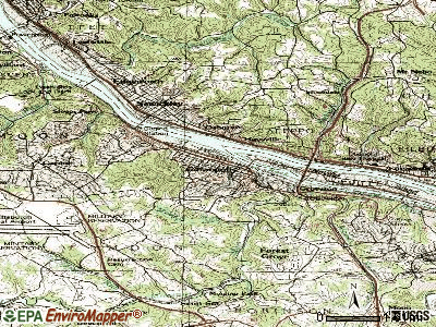 Coraopolis topographic map