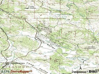 Hidden Valley Lake topographic map