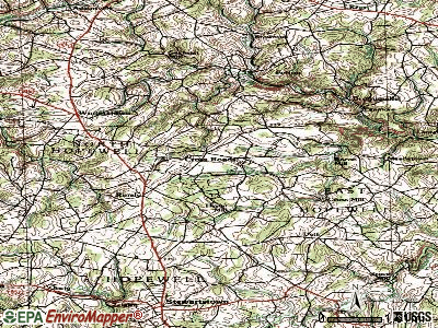 Cross Roads topographic map
