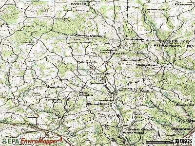 Curtisville topographic map