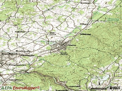 Derry topographic map