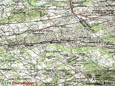 Devon-Berwyn topographic map