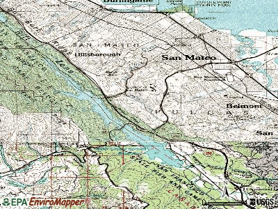 Highlands-Baywood Park topographic map