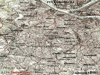 Dormont topographic map