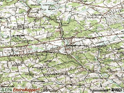 Downingtown topographic map