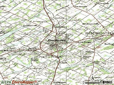 Doylestown topographic map