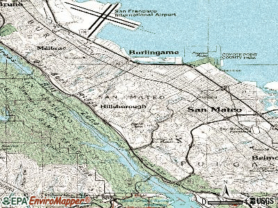 Hillsborough topographic map