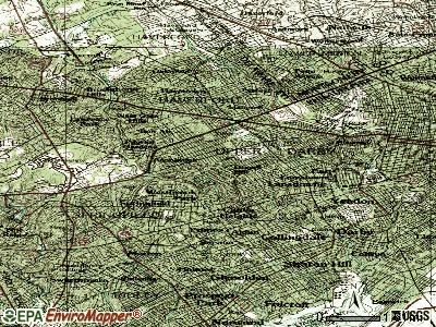 Drexel Hill topographic map