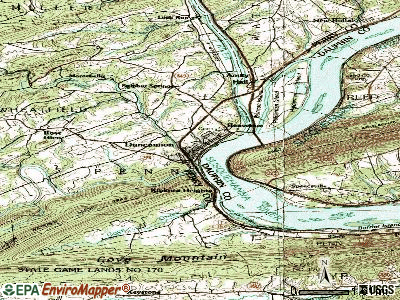 Duncannon topographic map