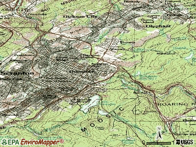 Dunmore topographic map