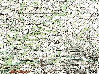 Eagleville topographic map