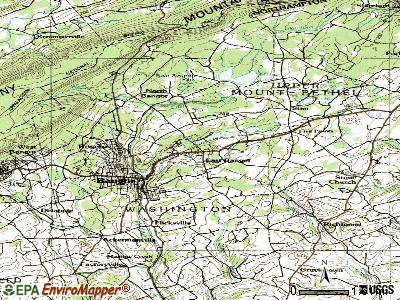 East Bangor topographic map