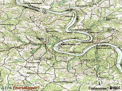 East Brady topographic map