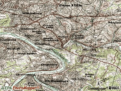 East Pittsburgh topographic map