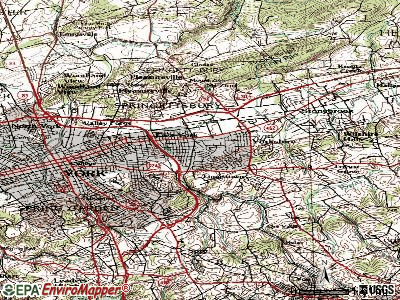 East York topographic map