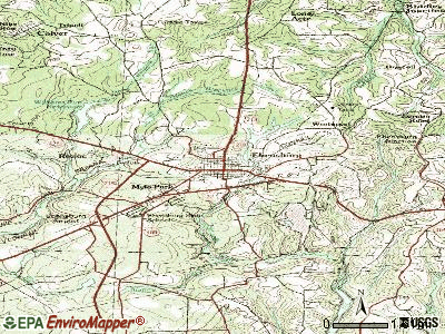 Ebensburg topographic map