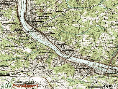 Edgeworth topographic map