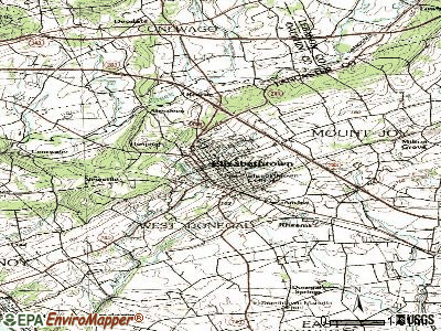 Elizabethtown topographic map