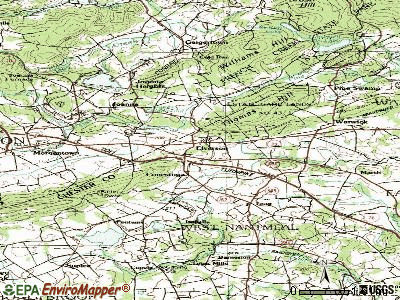 Elverson topographic map