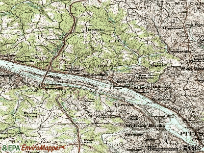 Emsworth topographic map
